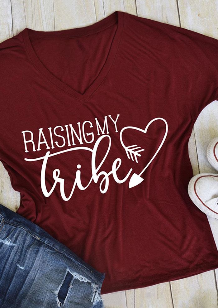 Raising My Tribe Heart Arrow T Shirt Fairyseason