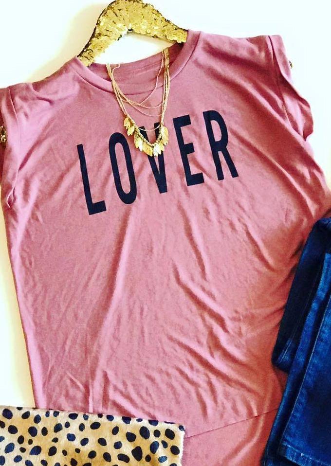 Tricou de damă, elegant, casual, cu imprimeu grafic, mâneci scurte și guler rotund