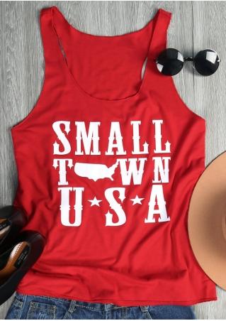 Small Town USA Printed Tank