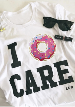 I  Donut Care Short Sleeve T-Shirt