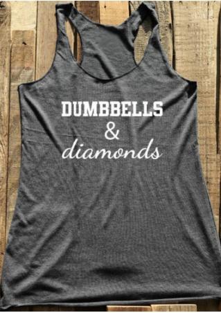 Dumbbells & Diamonds O-Neck Tank