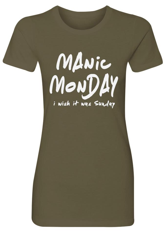 4d04681ece4b Manic Monday I Wish It Was Sunday T-Shirt - Fairyseason