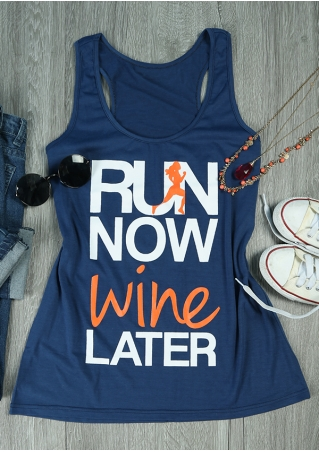 Run Now Wine Later Tank