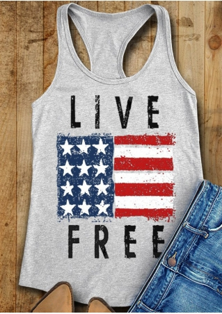 Live Free American Flag Tank