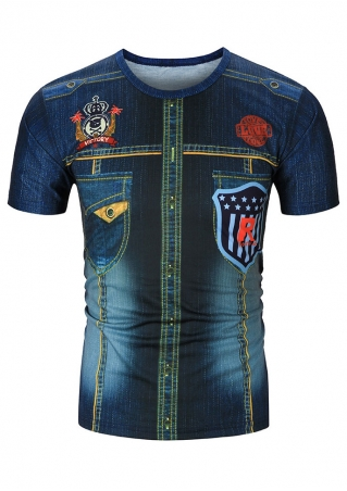3D Woodland Eagle O-Neck T-Shirt