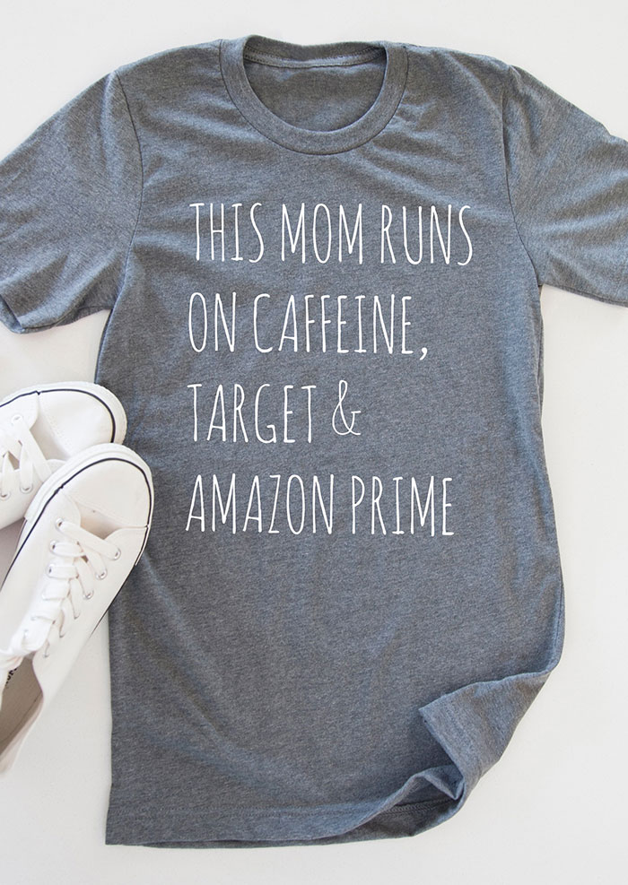 This Mom Runs On Caffeine T Shirt Fairyseason
