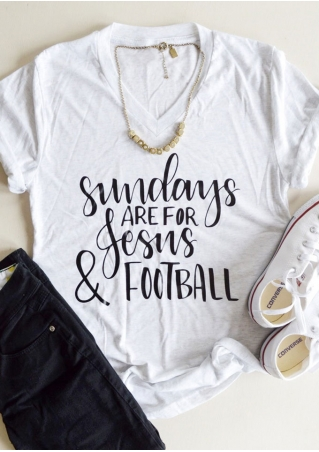 Sundays Are For Jesus & Football T-Shirt