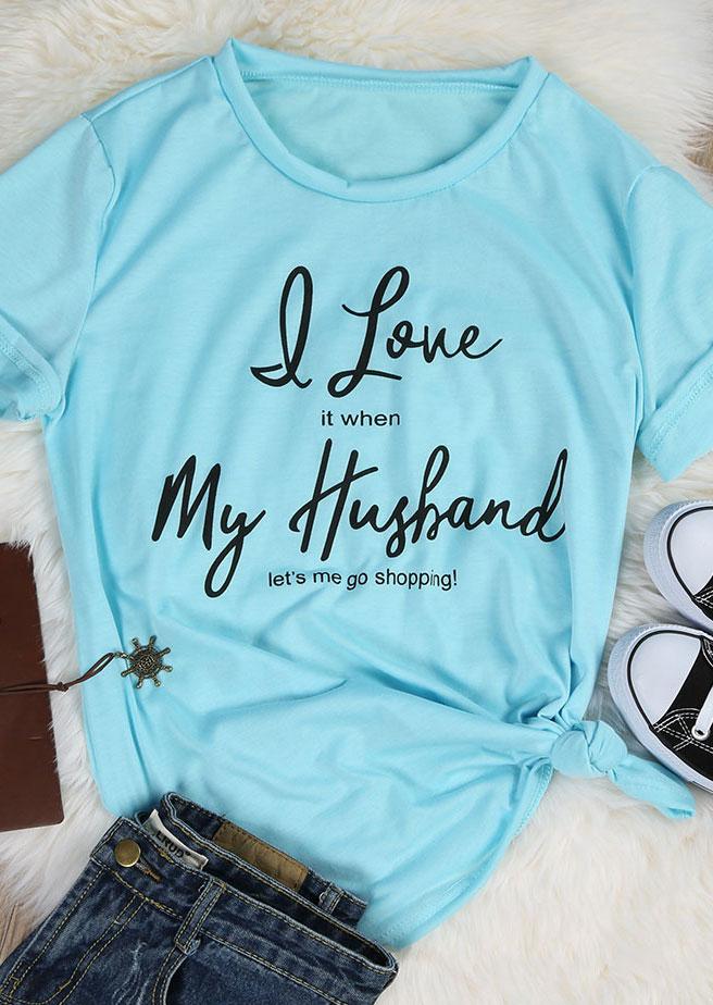 I Love My Husband T Shirt Fairyseason