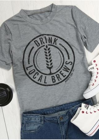 Drink Local Brews O-Neck T-Shirt Drink