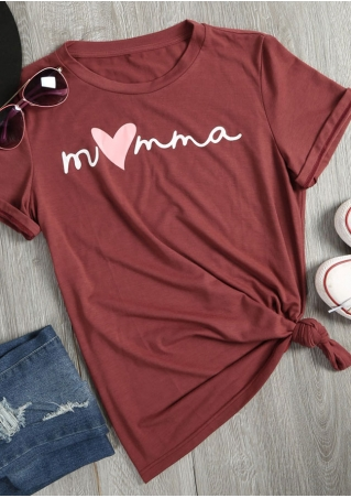 Momma Heart Short Sleeve T-Shirt