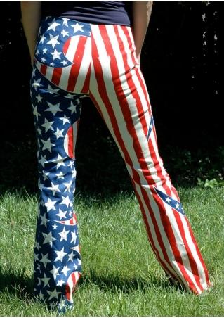 American Flag Drawstring Pants
