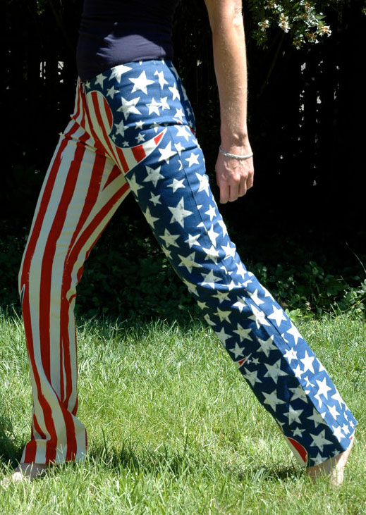 Image of American Flag Drawstring Pants