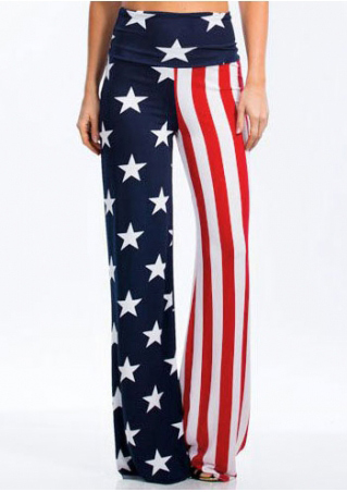 American Flag High Waist Wide Leg Pants