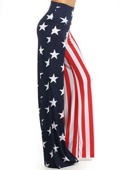 Image of American Flag High Waist Wide Leg Pants