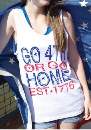 Go 4th Or Go Home EST 1776 Tank