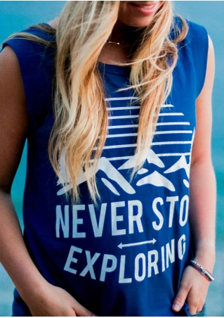 Never Stop Exploring Tank without Necklace