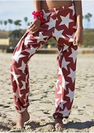 Star Printed Casual Pants