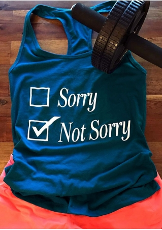 Sorry Not Sorry Printed Tank