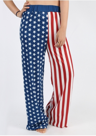 American Flag Wide Leg Pants