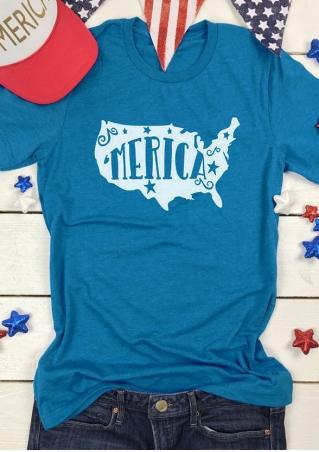 'Merica Star O-Neck T-Shirt