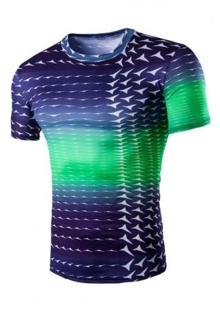 Printed O-Neck Short Sleeve T-Shirt
