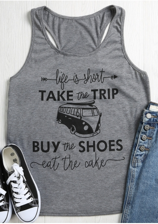 Take The Trip Buy The Shoes Tank