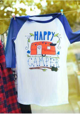 Happy Camper Baseball T-Shirt