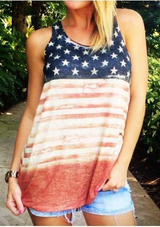 American Flag Striped Tank American