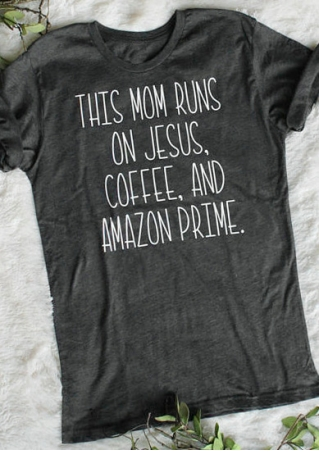 This Mom Runs On Jesus T-Shirt