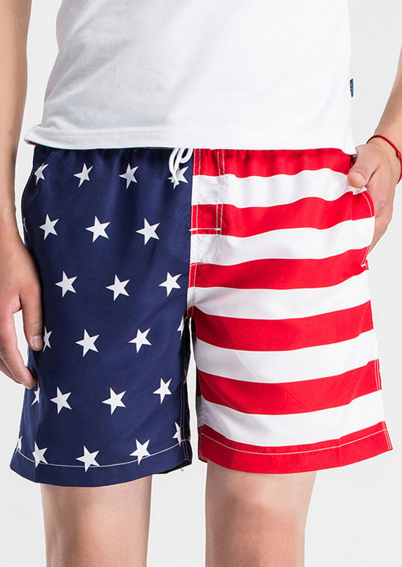 New American Flag Star Pocket Shorts, Shorts