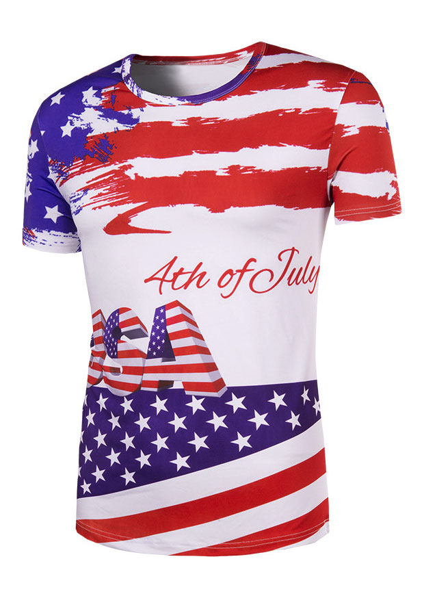 New USA 4th Of July American Flag T-Shirt, Tops, T-Shirts