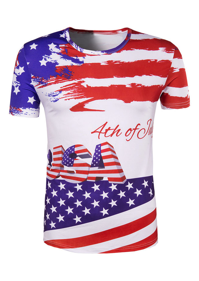 USA 4th Of July American Flag T-Shirt thumbnail