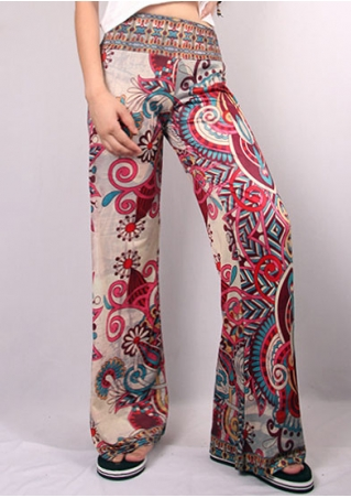 Ethnic Printed Wide Leg Pants