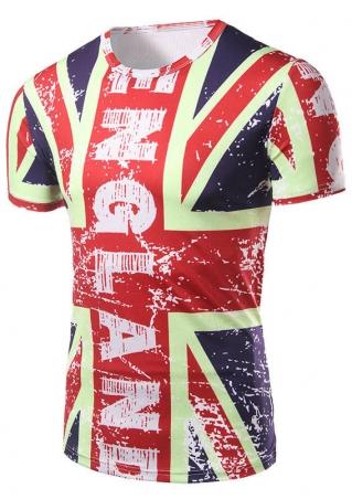 England Flag O-Neck T-Shirt