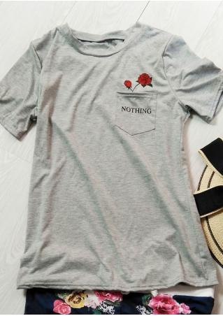 Nothing Floral Pocket O-Neck T-Shirt
