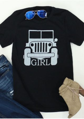 Jeep Girl O-Neck T-Shirt