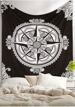 Mandala Printed Rectangle Tapestry