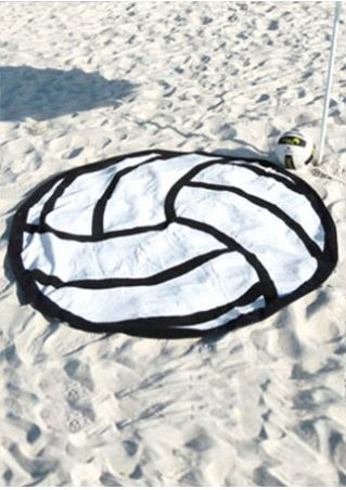 Volleyball Printed Round Beach Blanket