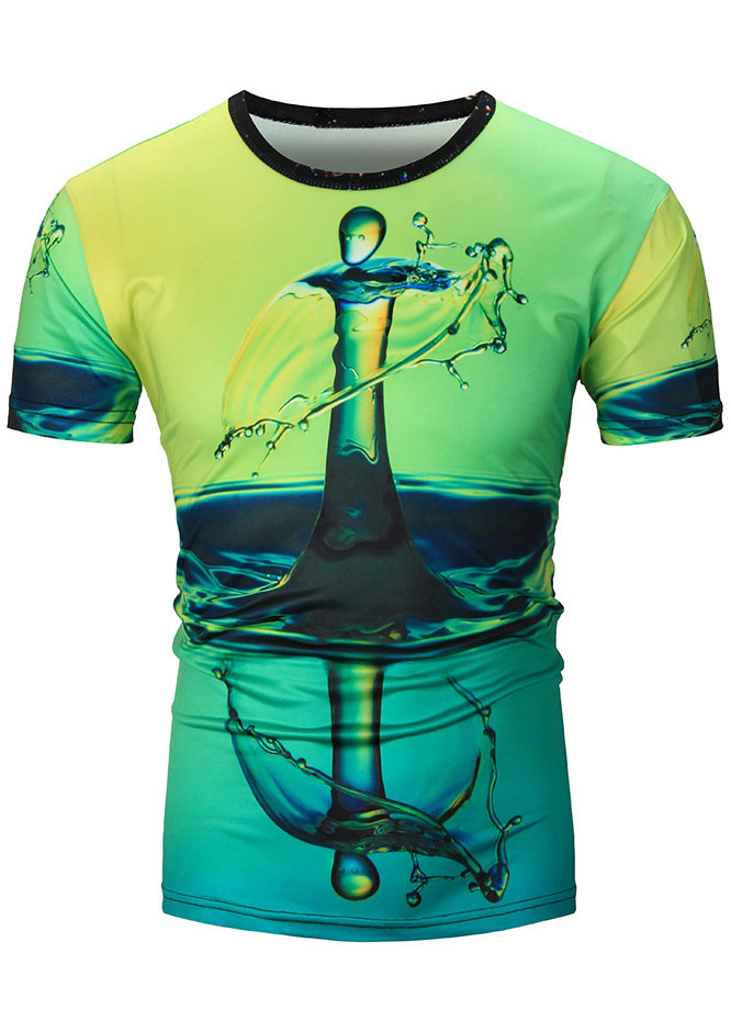 3d Printed O Neck T Shirt Fairyseason