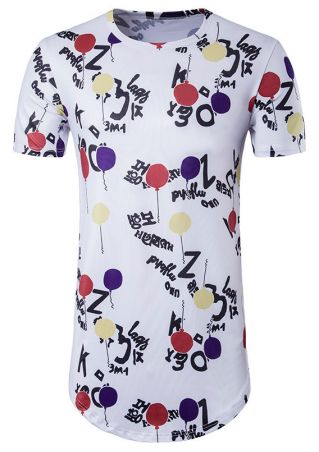 Balloon O-Neck Short Sleeve T-Shirt