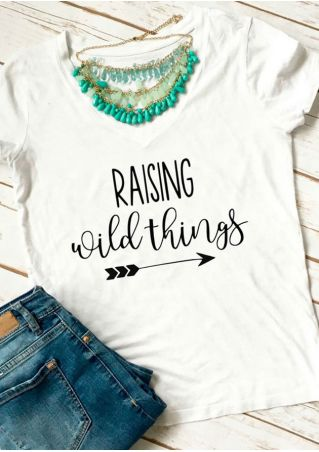 Raising Wild Things V-Neck T-Shirt