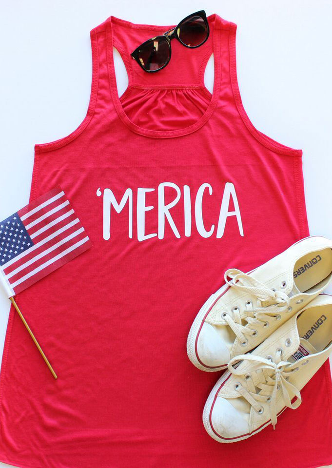 'Merica O-Neck Sleeveless Tank thumbnail