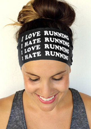 Image of I Hate Running Elastic Headband