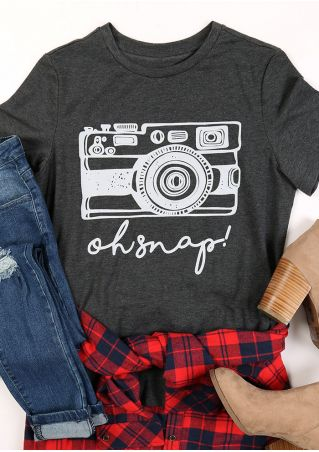 Oh Snap Camera O-Neck T-Shirt
