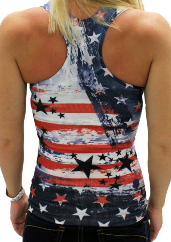American Flag Star Striped Tank Fairyseason