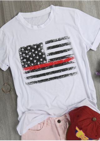 American Flag Striped Star T-Shirt