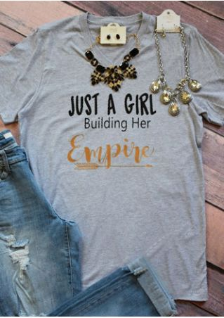 Just A Girl Building Her Empire T-Shirt without Necklace