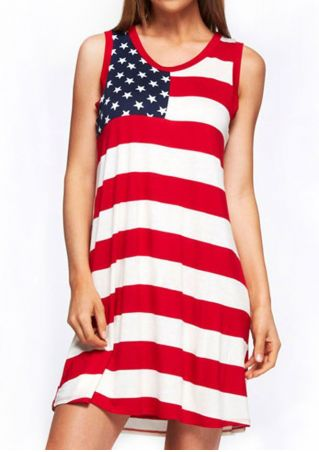 Striped American Flag Mini Dress