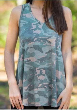 Camouflage V-Neck Tank Camouflage