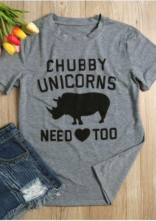Chubby Unicorns Need Too T-Shirt